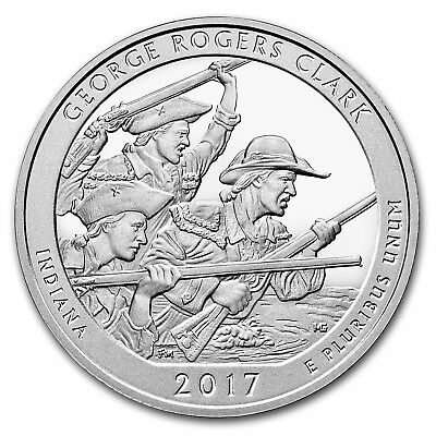 2017 5 oz Silver America the Beautiful ATB George Rogers Clark National Park, IN