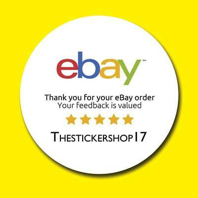 Personalised round ebay thank you labels stickers for postage mail matt or gloss