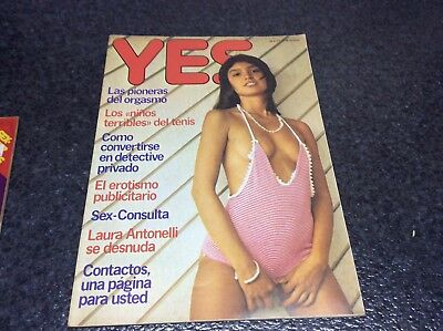 YES,   LAURA ANTONELLI, LILIANA SANGRILL  Magazine vintage Spanish 1977