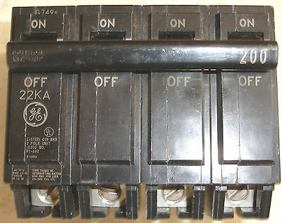New General Electric THQMV200WL Midwest CB4200H 4 Pole GE Main Circuit Breaker
