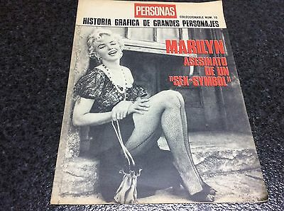Magazine people 10, MARILYN MONROE MURDER OF A SEX SYM spanish magazine vintage