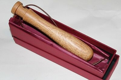 Barbour pocket size game fishing/ shooting priest turned in Oak/brass-gift boxed