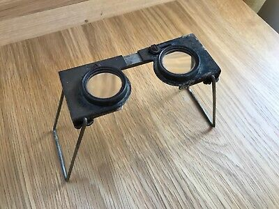 Antique Casella magnifier glasses, Stereoscope,  areal photography & map reading