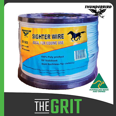 Thunderbird 4mm x 650m 100% Nylon Equine Horse Fence Sighter Wire