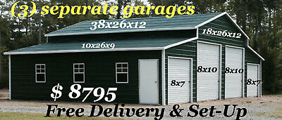 38x26x12 Certified 140/30 12 GAUGE Garage  FREE DELIVERY & SET UP as shown