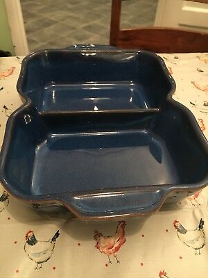 Denby Imperial Blue Divided Dish