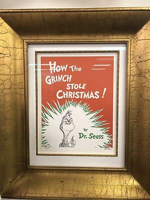 Dr. Seuss 'How The Grinch Stole Christmas' lithograph Signed Numbered Framed 510
