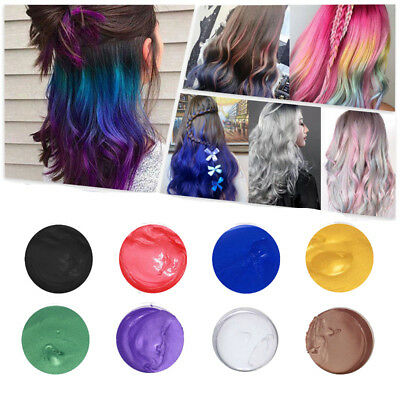 9 Colors Unisex Sexy DIY Hair Color Wax Mud Dye Cream Temporary Modeling Styling