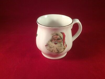 Vintage Bone China tea cup Santa, Father Christmas