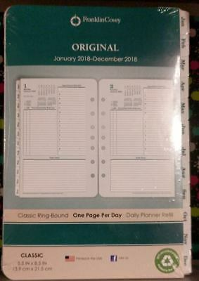 FranklinCovey(R) Daily Planning Pages Refill, January to December 2018 LOC BK2-1