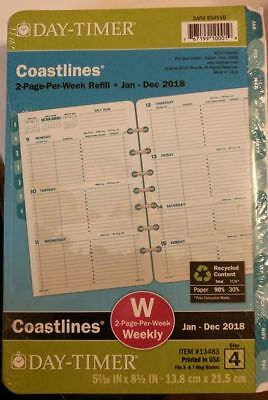 Day-Timer Refill 2018, Two Page Per Week, Coastlines Jan 2018 - Dec (13483-1801)