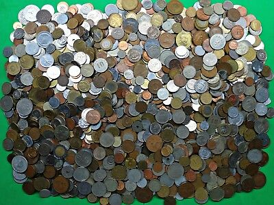 Bag of 20+ lbs Mixed Foreign World Coins Pounds of Fun bulk lot kg !!   #6