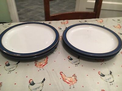 Denby Imperial Blue Side Plates X 4