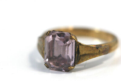 D332 10K Gold FIlled stone 8mm Ring 1.5g size 2 3/4