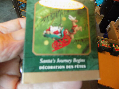 Hallmark Ornaments Mini Santa's Journey Begins Qxm6004 2000 Nib
