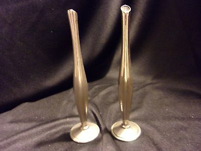 "Vintage Sterling Silver Weighted Bud Vase 6"" Set of Two"