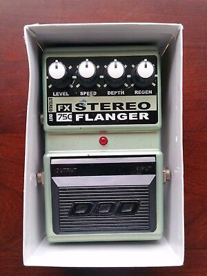 DOD FX75C Stereo Flanger. Classic Analogue Guitar Studio FX Flanger. Like FX747