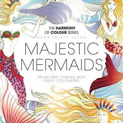 Harmony of Colour: Book 37 - MAJESTIC MERMAIDS Adult Colouring - NEW