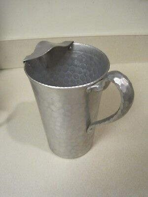 Vintage Everlast Metal Hammered Water Pitcher with ice shield- $39.91