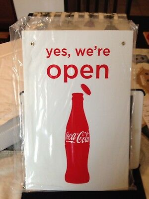 Open Close Flip Sign Coca-Cola Sign. Man Cave or store front!