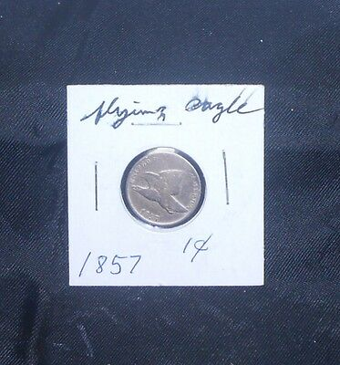 """Flying Eagle Small Cent """"1857"""" Circulated Item In Mylar, Good Coin!"""