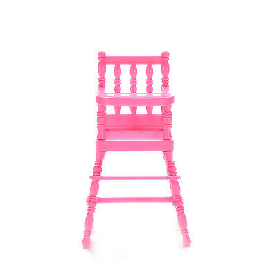 1 X High Chair Doll's House Furniture Play Doll House Toy for Baby Girls JB