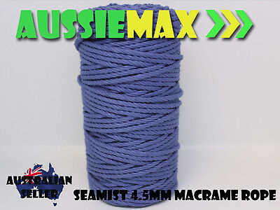 4.5mm Seamist Macrame Rope 100% Natural Cotton Cord 90 Meters