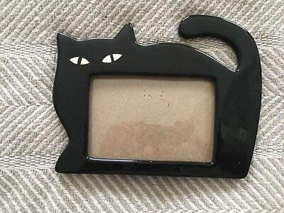 Cute Ceramic Black Cat Photo Picture Frame