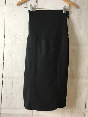 Motherhood Maternity Skirt Black Pencil Size Small