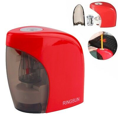 Pencil Sharpener Electronic Electric Battery School Office Stationery Auto Stop
