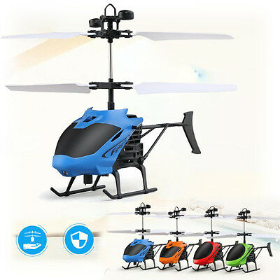 Flying Mini RC Infraed Induction Helicopter Aircraft Flashing Light Kid Toys OM