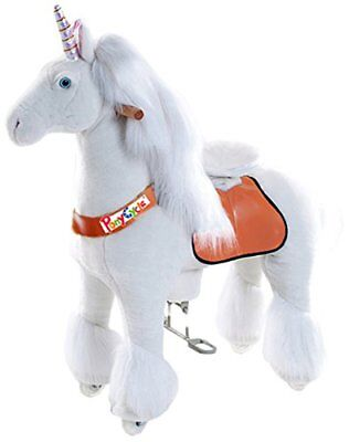 Official PonyCycle Unicorn Ride On Toy | Medium White Horse for 4-9 Years Old