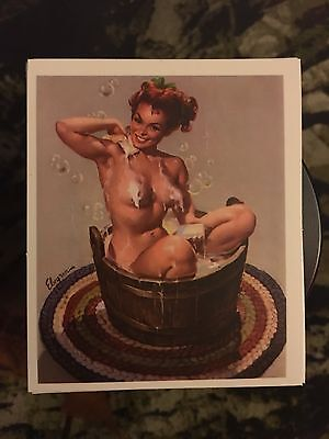 Bathing Pinup Girl Sticker