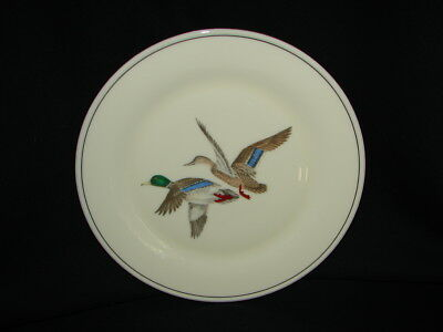"""Vintage Porcelain LENOX China Dinner Plate w/ Two Flying Ducks #L8 Special 10.5"""""""