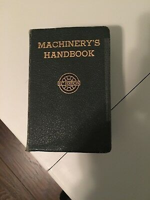 Machinery's Handbook 12th Edition 1944 Industrial Machine Shop Drafting