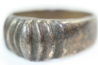 "D350 Mexico Sterling Ring 8g top 3/8"" wide size 9"