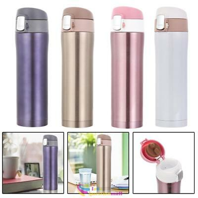 450ml Stainless Steel Insulated Thermos Travel Cup Flask  Mug Water Drink Bottle