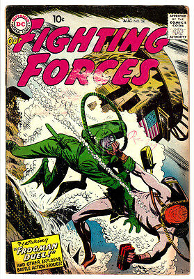 OUR FIGHTING FORCES #24 (VG-) DC 1957 Early Silver-Age! Classic War Comic! L@@K