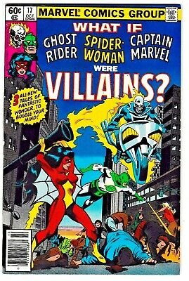 WHAT IF #17 (VF/NM) CAPTAIN MARVEL! SPIDER-WOMAN! GHOST RIDER! 1979 Great Read!