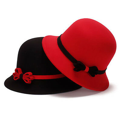 Fashion Women Causual Charm Hat Lady Cocktail Party Decor Bowknot Cap Nice