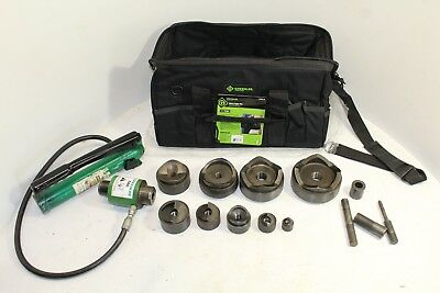 GREENLEE  7310SB HYDRAULIC KNOCKOUT PUNCH SET with NEW BAG (100% TESTED)