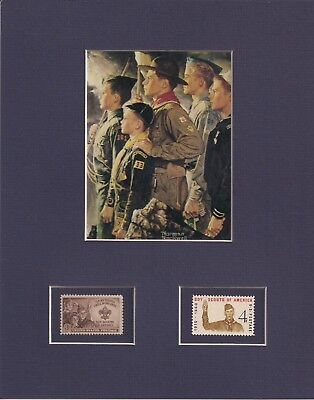 Norman Rockwell - Boy Scouts - Frameable Postage Stamp Art - 0287