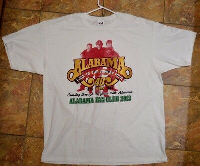 Alabama Back to the Bowery 2013 40th Anniversery Concert Shirt sz 2XL