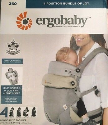29ed43d860a Ergobaby 360 All Carry Positions Ergonomic Baby Carrier with Bundle of Joy  In..