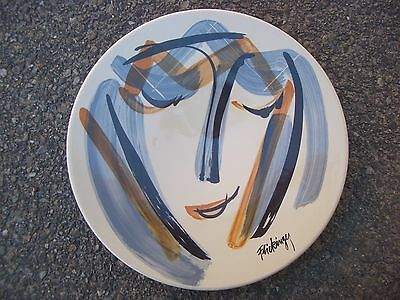 Grande Assiette Plat Lunéville Portrait Contemporain Regards par Flickinger