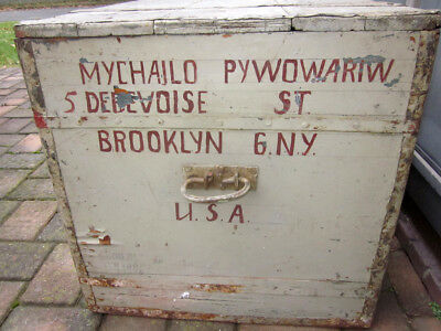 Vintage Brooklyn New York City Immigration Family Trunk