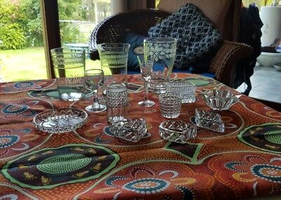 Antique/Vintage Fine Glass and Textured Glass Ware (Bulk lot x13)