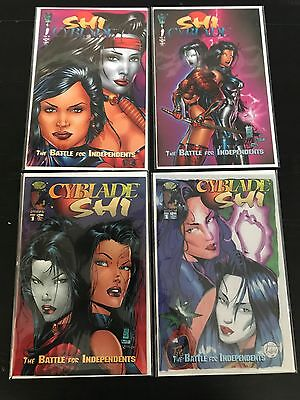 Cyblade Shi 4 Lot Set Image Crusade Comics Nm Marc Silvestri William Tucci