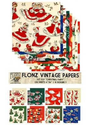 """FLONZ 6""""x6"""" card making double sided paper packs 24 sheets CHRISTMAS FAIRY"""