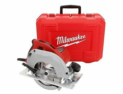 15 Amp 7-1/4 in. TILT-LOK Circular Saw Keyless Blade Wrench Corded With Case Red